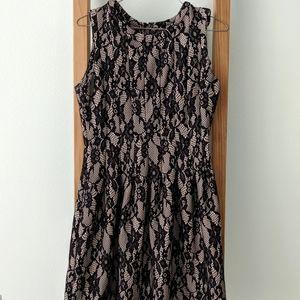 Anthropologie Black Lace Dress